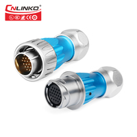 CNLINKO m 24 Series 24 Pin Bulkhead Metal Material Field Assembly Electrical Male Female Power Welding Cable to Cable Connector