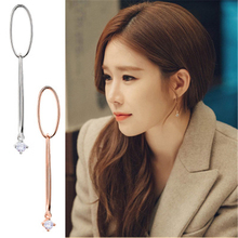 Yoo In Na with the earrings French elegance tassels for women brincos fashion jewelry mujer geometric