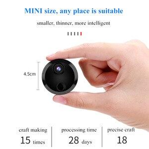 Ronde Super Mini Camera WIFI Dunste Camcorder Groothoek Draadloze IP P2P Camera met Nachtzicht en Bewegingsdetectie functio