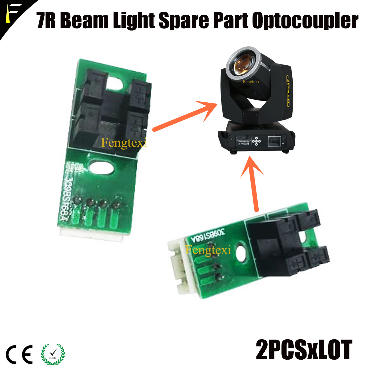 200W230W350W 5r7r17r Stage Beam Moving Head Light XY Axis Positioner Optocoupler 1pair Repair Part XY Locator Optical Coupler
