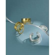 Элегантные двухслойные кольца из стерлингового серебра 925 пробы
