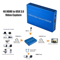 Game Capture Card For HDMI USB 3.0 4K Portable Audio Video Dongle With Loop out for Windows for Linux for OS X