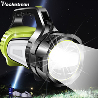 USB Rechargeable Handheld Flashlight Portable Searchlight Camping Light Outdoor Tent Light Waterproof Torch Powerful Lantern
