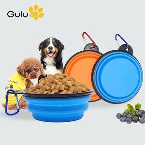 350ml/1000ml silikonowy składany Pet picia miska dla zwierząt pies kot kryty odkryty przenośny podróży miska podajnika
