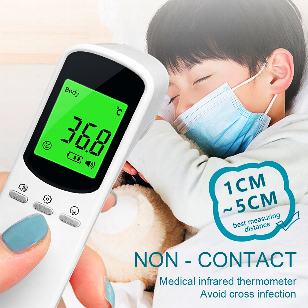 Digital Infrared Thermometer Baby/Adult Forehead Body Muti-fuction Non-contact Thermometer Gun Temperature Measurement Device
