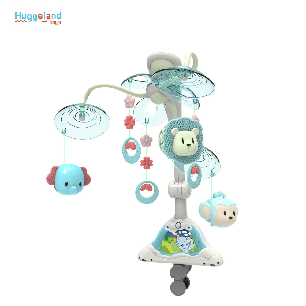 Baby Rattles & Mobiles Huggeland 343277 for boys and girls baby rattles mobile on the crib toys for newborns mobile in the crib of the newborn Plastic Unisex american baby company crib starter set