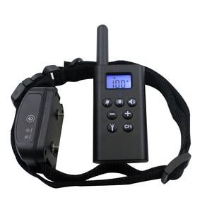 Image 4 - Controle remoto recarregável do animal de estimação do colar bonde do treinamento do cão de 300m com display lcd para o dispositivo antilatido do som da vibração de choque