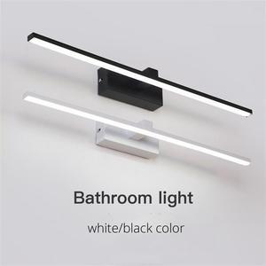 Image 5 - Led أضواء مرآة مصابيح الحائط الحمام مقاوم للماء أبيض أسود LED مصباح مسطح الحديثة داخلي الجدار مصباح الحمام الإضاءة يشكلون