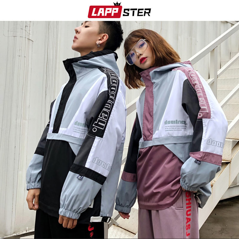 Patchwork Streetwear Tracksuit Men 2019 Mens Harajuku Joggers Suit Sets Vintage Hooded Hoodies Fashions Joggers Pants