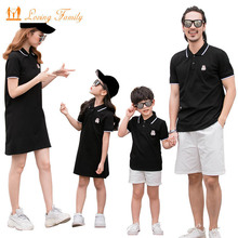 Family Look Mother Daughter Dresses Summer Father Son T-Shirts Short Pants Men Boy Family Matching Outfits Women Girl Dress summer family look clothes boy t shirts mother