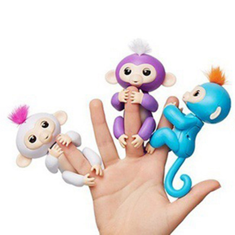 Children Electronic Toy Electronic Smart Touch Colorful Fingertip Monkey Interactive Finger Monkey Kids Smart Electronic Pet