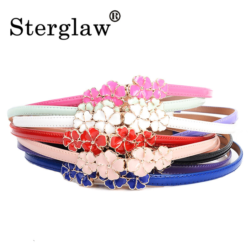 92x1.1Sweet Cute Flowers Women's Belts Brand Skirt Belt Dresses For Girls Riem 2020 High Quality Female Casual Leather Belt H007