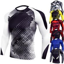 T-Shirts Men Fitness-Sportswear Sport-Tops Long-Sleeve Trainning Compression-Tights Bodybuilding