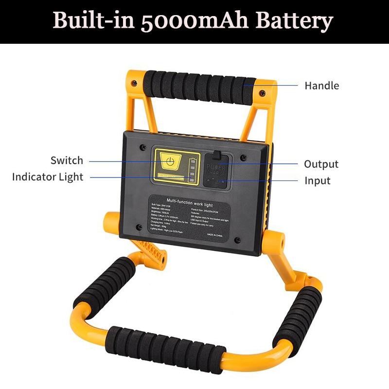300 Вт супер яркий Pocketman светодиодный рабочий светильник COB поиск светильник USB Перезаряжаемые Рабочая лампа Портативный Точечный светильник аварийный светильник