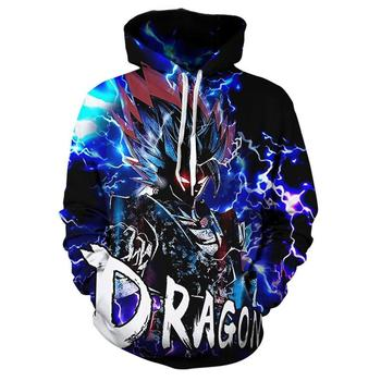 Autumn And Winter Thick New 3d Anime Men's And Women's  Hoodie Dragon Ball Z Pocket Hooded Sweatshirt new men s dragon ball 3d printed hooded sweatshirt with kangaroo pocket hob aa03