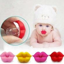 1pcs lábios mamilo silicone chupeta chupeta chupeta bebê beijo infantil da criança chupeta beijo boca presentes silicone engraçado sexy