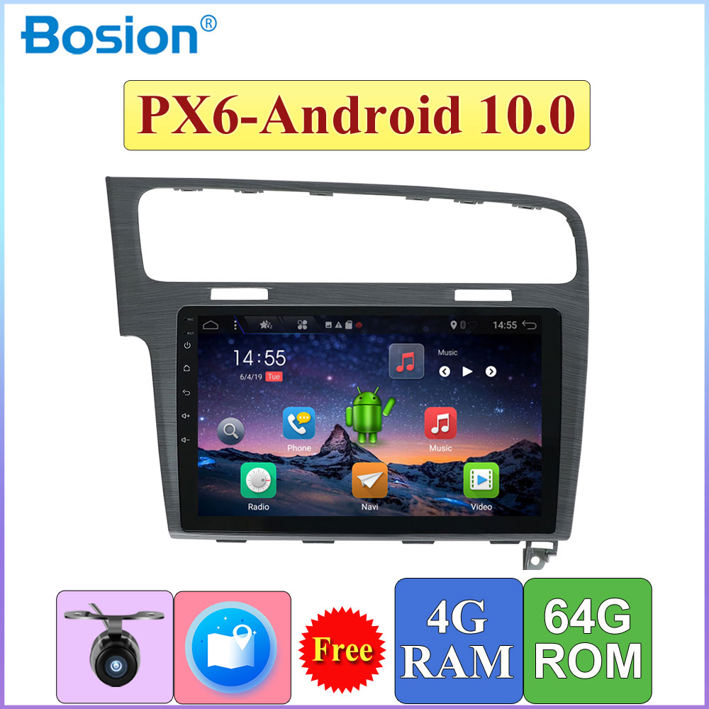 Android 10.0 1Din Car <font><b>Multimedia</b></font> Video Player GPS Car Radio Auto Radio Stereo 10inch Audio ForVolkswagen <font><b>Golf</b></font> 7 2013-2018 image