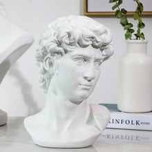 Sculpture Art-Craft Head-Portraits Room-Decor David-Statue Gypsum Michelangelo Resin