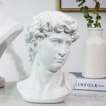 15cm david estátua cabeça retratos mini gipsita michelangelo decoração de casa resina arte artesanato esboço prática sala decoração escultura