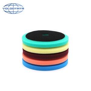 Image 1 - Carro polonês almofada almofadas de disco de polimento com 5 polegada gancho e loop para polir máquina de polimento detalhando espuma esponja auto accessorie