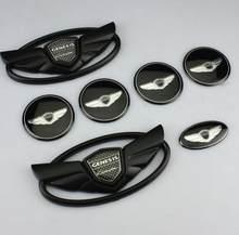 7 шт./компл. 3D значок эмблемы передние + задние + рулевые колеса для 2010-2015 GENESIS COUPE автомобильный Стайлинг Новый