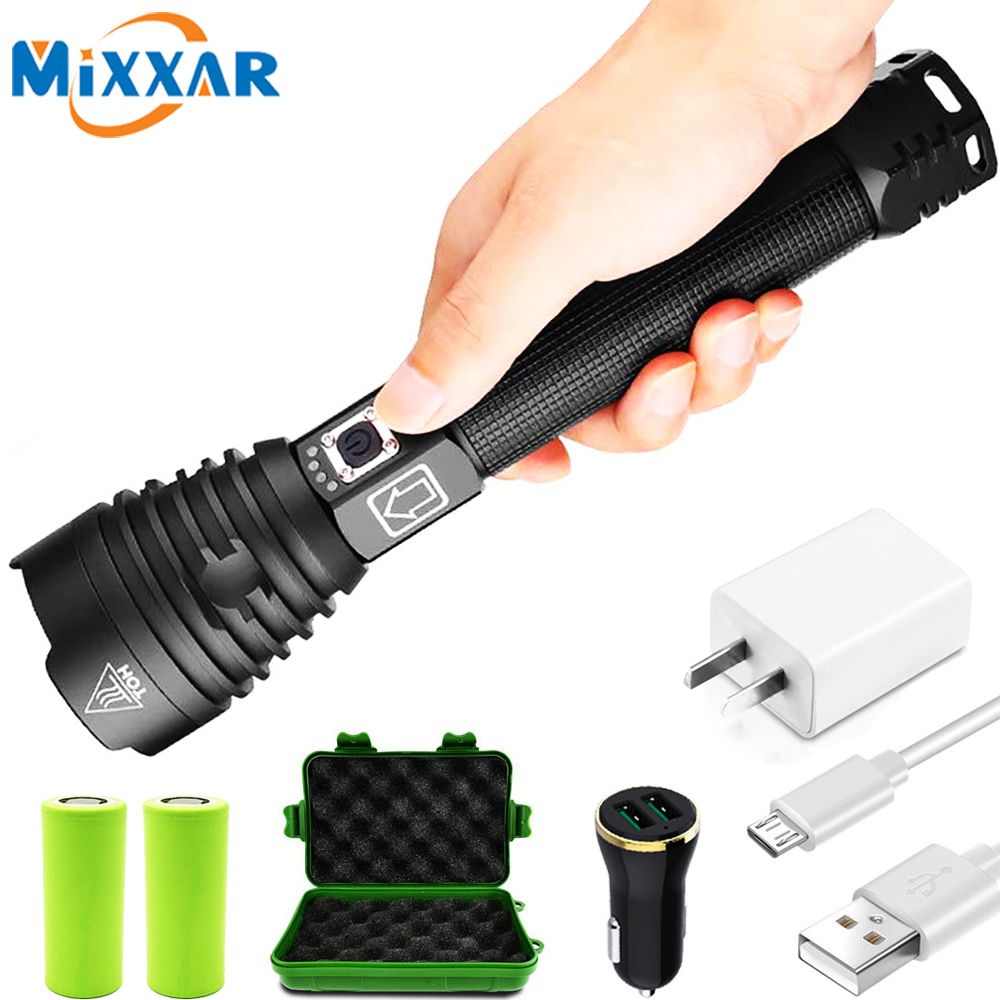 ZK20 XHP90/XPH70/XPH50 LED Flashlight Torch USB Rechargeable Power Display 26650 18650 Battery Handheld Light Lantern