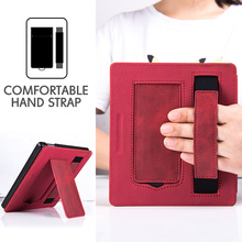 Stand Case for All-new Kindle Oasis 3 (10th Generation, 2019 Release Only) -PU Leather Cover with Hand Strap and Auto Sleep/Wake