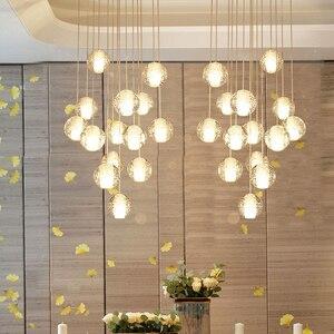 Современный 8 см Стекло хрустальная люстра в форме шара гостиная украшения светодиодный роскошная люстра интерьер лестница коридор лестни...