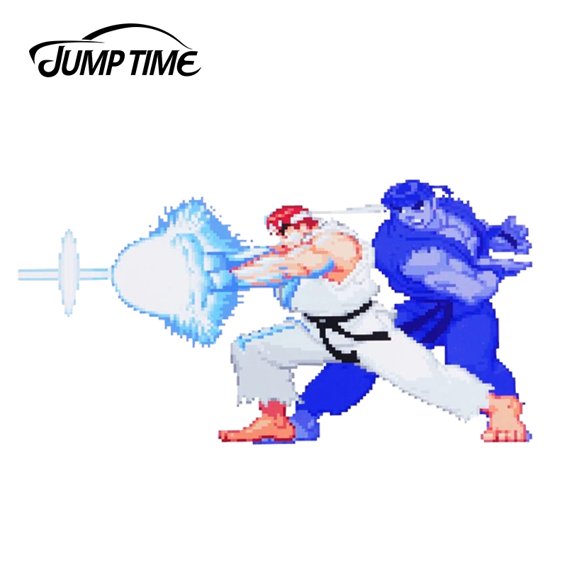 JumpTime 13cm X 6.5cm For Street Fighter Ryu Shadow Hadoken Series Sticker Car Styling Car Window Trunk Decal Waterproof