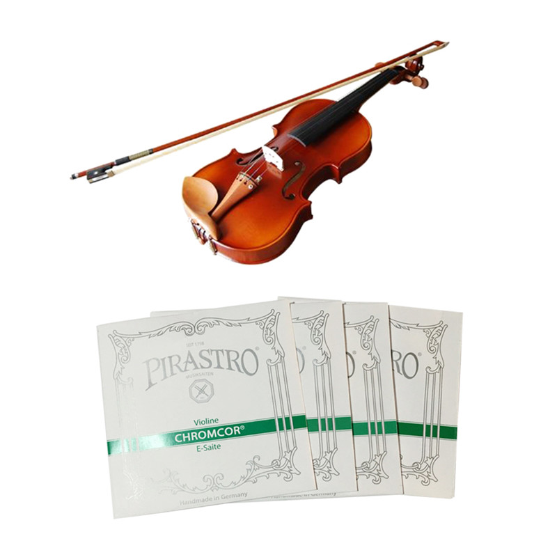 4Pcs/Set E/A/D/G String Chrome Steel Pirastro Tonica Violin Strings For 4/4 Silver High Quilty Violin Accessory