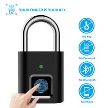 ZILNK USB قابلة للشحن الذكية قفل ببصمة الأصبع قفل حماية سبائك الزنك معدن مقاوم للماء مكافحة سرقة قفل باب كهربائي