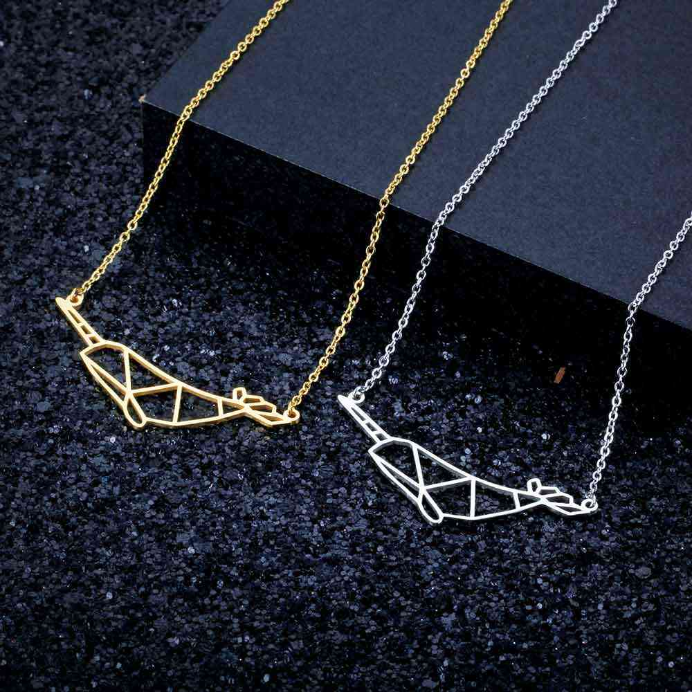 100% Stainless Steel Narwhal  Fashion Necklace for Women Unique Design Pendant Necklaces Wedding Party Necklaces Special Gift