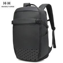 Viagem grande capacidade expandir homem mochila caber 17 polegada portátil multi camada espaço viagem masculino saco anti ladrão mochila