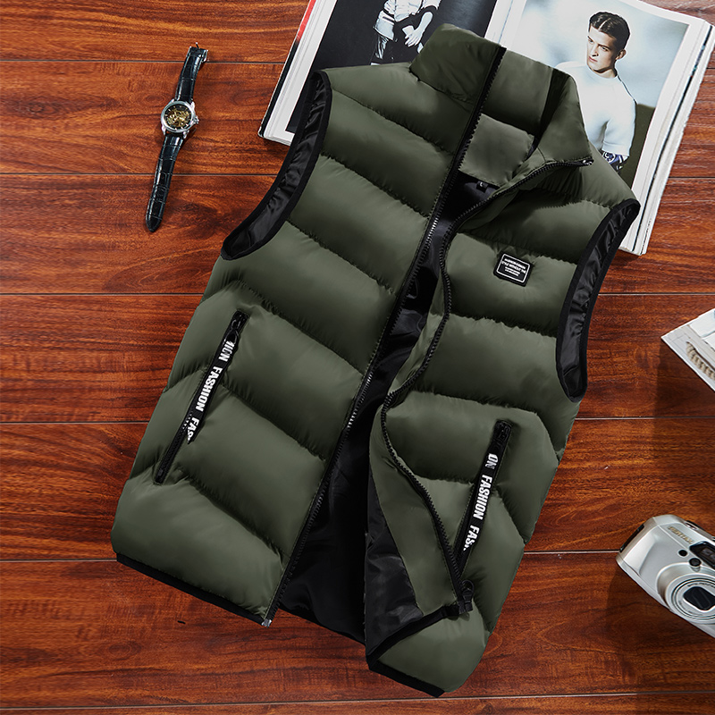 Men's Vest Spring Winter 2020 Sleeveless Jacket Coats Mens Waistcoat Warm Thick Casual Outdoor Homme Male Vests Plus Size 8XL