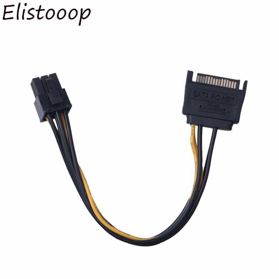 Yeni SATA Güç Kablosu 15 Pin 6 Pin PCI EXPRESS PCI-E Sata Dönüştürücü Adaptör Güç Kablosu