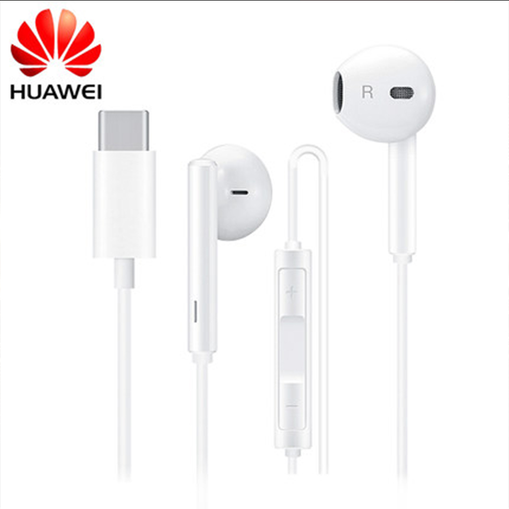 Original HUAWEI CM33 Earphone USB Type C In Ear Hearphone Headset Mic Volume HUAWEI Mate 10 20 Pro 20 X RS P 10 20 30 Note 10 4.