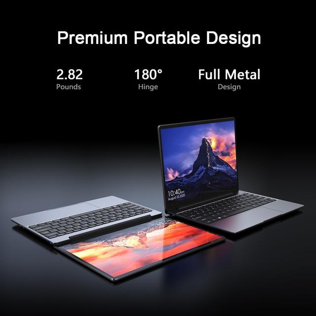 CHUWI GemiBook 13 Inch 2160*1440 Resolution Intel Celeron J4115 Quad Core 12GB RAM 256GB SSD Windows 10 Laptop Dual Band Wifi 5