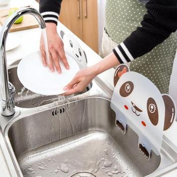 1PC nieprzepuszczalny wzór panda drukowanie przegrody z przyssawką do mycia basenu plastikowa woda Splatter plansza narzędzie kuchenne tanie i dobre opinie OLOEY CDF-190641 Ekologiczne Zaopatrzony Splatter ekrany Z tworzywa sztucznego