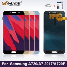 A720 Display For Samsung Galaxy A7 2017 Display LCD Touch Screen Digitizer Replacement Parts For Samsung Galaxy A720F A720M LCD lcd screen touch glass digitizer for samsung galaxy s6 active g890a white replacement pantalla parts