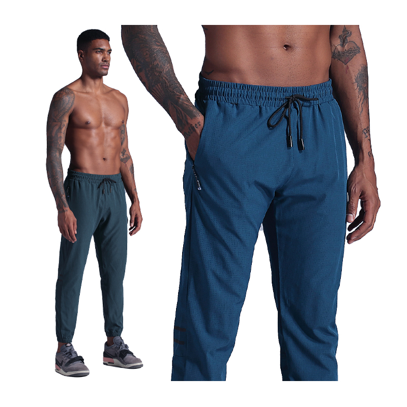 Fitness Bodybuilding Pants Compression Exercise Trousers Pocket Male Slim Bottoms Jogging Football Training Sweatpants