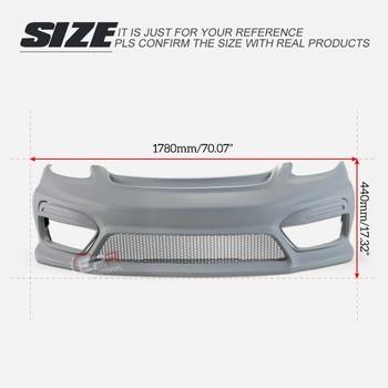 For Porsche 2016 On Boxster 718 Cayman 982 GT4 Type Fiberglass Front Bumper With Fog Light Cover FRP Fiber Glass Drift Body Kit