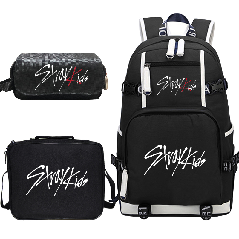 Stray Kids Prints Backpack Sets For Teenage Girl Boy School Bag Cutom Bagpack Women Men Casual Backpack Children Laptop Book Bag