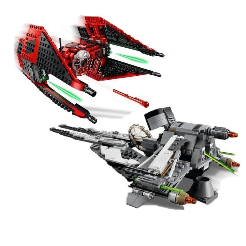 (Ynynoo) starwars red tie lutador tropper dlrector K-2SO droid star plan wars blocos brinquedo 75240 75242