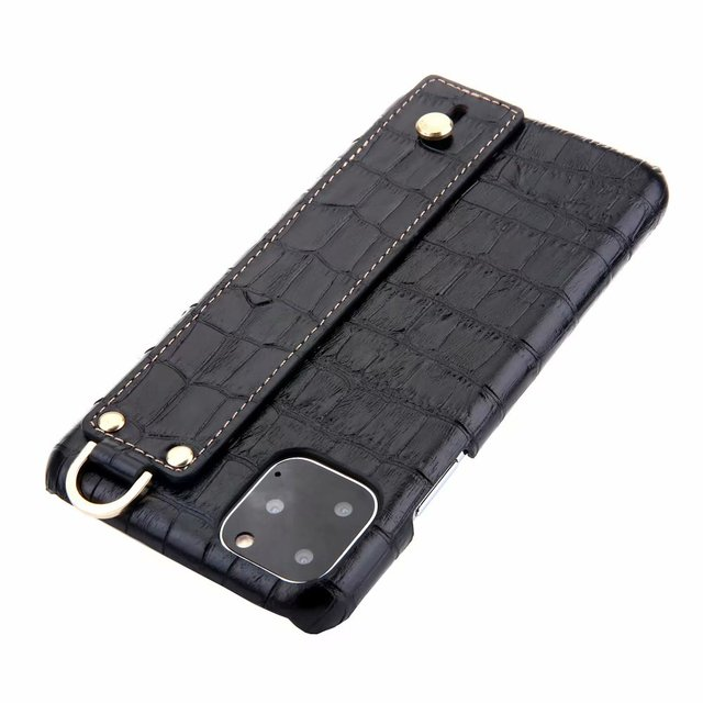 YXAYN Genuine Leather Crocodile Pattern Strap Ultra Thin Hard for iphone 11 Pro max X XS XR 7 8 Plus Phone Case 2