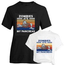 Смешная женская футболка с коротким рукавом из фильма «зомби