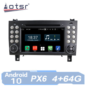 AOTSR Car Radio Auto Android 10 For Mercedes Benz SLK Class R171 SLK230 W171 GPS Navigation IPS Multimedia Player AutoRadio image