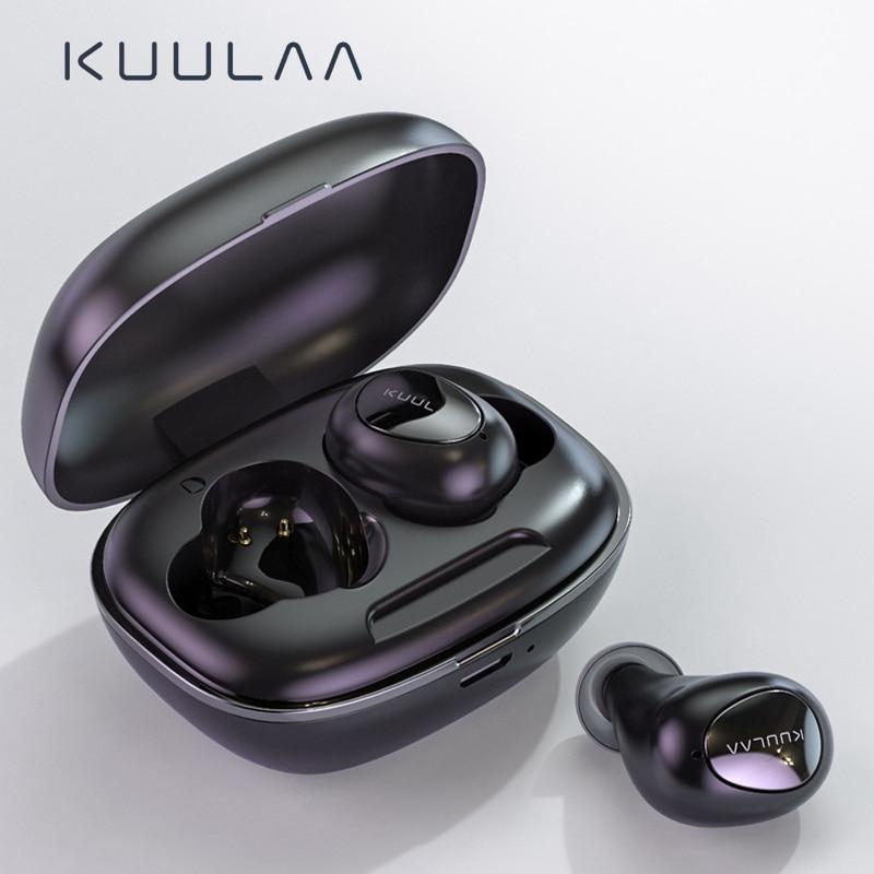 KUULAA TWS Bluetooth Earphone Wireless Headphones Bluetooth 5 0 Handsfree Gaming Headset Blutooth Earphone In Ear Sports Earbuds