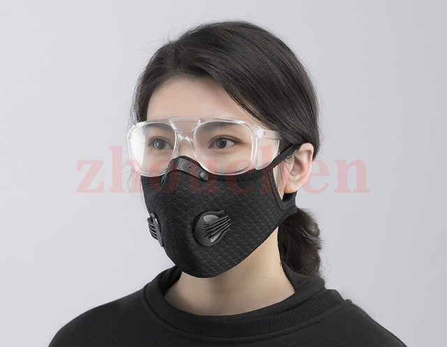 Sport Face Mask With Filter Activated Carbon PM 2.5 Anti-Pollution Running Training MTB Road Bike Cycling