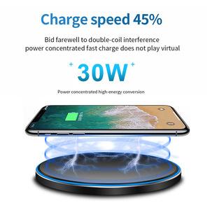 Image 3 - DCAE 30W Qi Wireless Charger for iPhone 12 11 Pro Max Mini X XS 8 XR Type C Fast Charging Pad For Samsung Note 20 10 S20 S10 S9