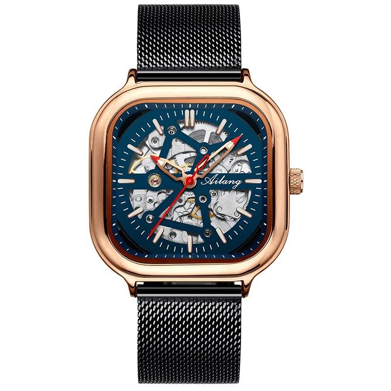 Купить ailang мужские часы 2020 новые автоматические механические черные